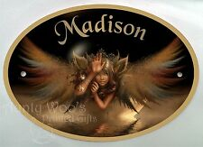 Personalised Door Signs/ Plaques Magic Fairy Night Angel Name Number Plastic