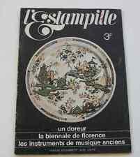 Revue d'art L'ESTAMPILLE n°4 1969 Biénale Florence instruments musique anciens