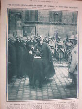Article French General Nivelle flowers from children at Noyon France 1917 WW1