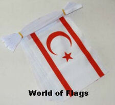 NORTHERN CYPRUS FLAG BUNTING North Cypriot 9m 30 Polyester Flags Turkey Turkish
