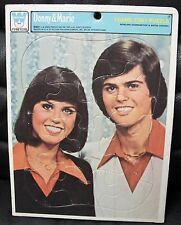 Donny and Marie Head Shot Frame Tray Puzzle, Whitman, 1977