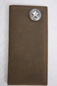 ZEP-PRO  TEXAS STAR  Roper CRAZY HORSE Leather Wallet BURLAP Gift  BAG