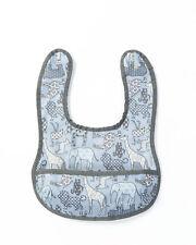 Smallstuff Lätzchen mit Tasche - Tiere blau