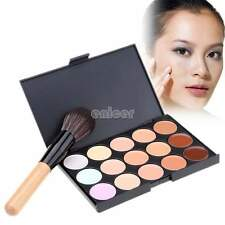 15 colores de maquillaje corrector Paleta Sombra de Ojos Crema Contorno Cara ENE