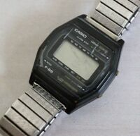 Casio F-85 Digital Watch Vintage 1980's Super Rare For Parts Repair Alarm Chrono