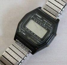 Casio F-85 Digital Watch Vintage 1980's Super Rare For Parts Repair Alarm Chrono