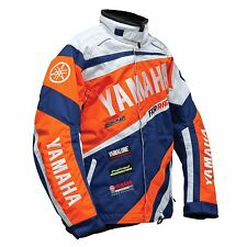2016 YAMAHA RACE REPLICA SNOWMOBILE JACKET FXR BLUE ORANGE XL SMB-16JRR-BL-XL