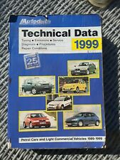 AUTODATA TECHNICAL DATA REFERENCE GUIDE 1980's TO 1999 Cars & light Commercials