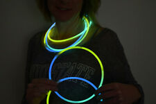 DirectGlow 150ct Aqua/Green/Yellow 22 inch Glow Necklaces Preattached Connectors