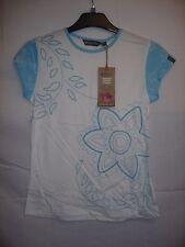 Womens Gelert White Floral Walking Hiking Short Sleeved Brazil T-Shirt Size 8