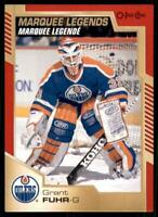 2020-21 UD O-Pee-Chee Red Border Marquee Legends 541 Grant Fuhr Edmonton Oilers