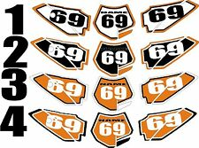 Number Plate Graphics for 2009-2015 KTM SX50 SX 50 Side Panels Decal