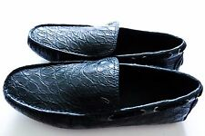 $4275 BRIONI Blue Crocodile Alligator Leather Loafers Shoes 10 US 43 Euro 9 UK