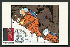 BELGIEN MK 2004 COMIC TINTIN TIM & STRUPPI ROCKET SPACE MAXIMUM CARD MC CM d4242