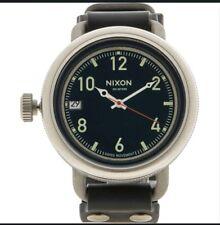 NIXON Men Black & Silver Tone October Watch - RRP £245  300M Water Resistant