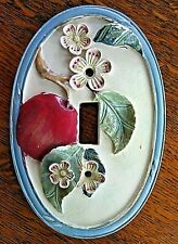 Switch Plate Covers Decorative Apple Tree Branch Flowers Fruit Single Toggle Fix