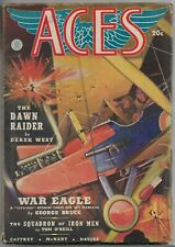 Vintage Pulp Magazine~ACES~Spring 1939 WAR AVIATION George Bruce BELARSKI Cover!