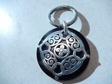Brighton Gloss Key Chain Silver Black