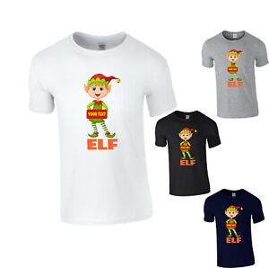 Personalised ELF Christmas Your Name Or Text T-Shirt Funny Elf Santa Xmas Gift