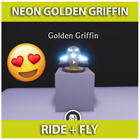 🦄 Neon Golden Griffin Adopt me - Legendary Fly Ride - Get It In 5 Minutes!