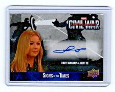 2016 Upper Deck Marvel Civil War Captain America Emily VanCamp Autograph