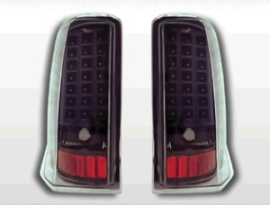 2002 2003 2004 2005 2006 Black Clear LED Brake Tail Lights For Cadillac Escalade