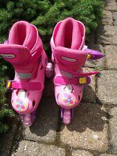 Little Tikes inline 3 wheeled rollerblades skates M 10,11,12,1 adjustable girls