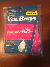 UltraCare Premium Vac Bags Hoover type H30+ Canister Vacuums Allergen Filtration