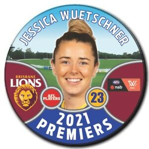 2021 AFLW Premiers Player Badge - WUETSCHNER, Jessica