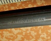 Wahl  silver ring top fountain pen & historical imprint - COMP DISABLED SOLDIERS