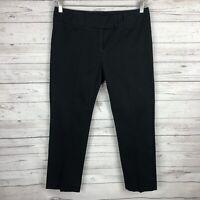 CAbi #355 Women's Black Trouser Pants Sz 10 Flap Pockets Straight Leg Career
