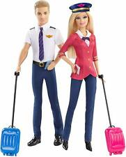 Barbie Pink Passeport pilotes d'avion poupées Barbie et Ken doll Barbie Careers