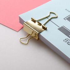 40Pcs Solid Gold Metal Clip Binding Note Letter Paper Clip Office Supplies New