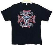 Sz XL CALIFORNIA CHOPPERS T-Shirt with Skull Black 100% Cotton