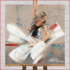 Ballet Dancer Modern Dance Wall Art Framed Box Canvas Print Picture Blue Black