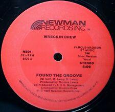 """WRECKIN CREW """"Found the Groove"""" Original 12"""" Vinyl ©1981 Boogie EX // $18.98"""