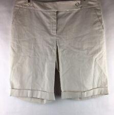 New With Tags Calvin Klein Women's Size 4 Shorts Khaki White Stripe 9 1/2 Inseam