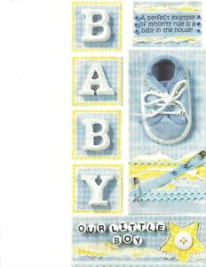 """6 """" X 12 """" OUR LITTLE BOY  STICKERS  BY BO BUNNY"""