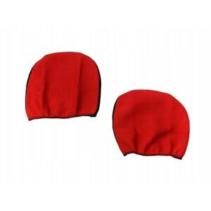 PAIR RED Headrest Cover fit Bus Car Van Pick-up Two Headrest Covers Pad