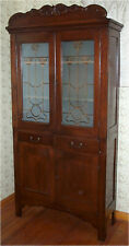 Antique Late 1800's - Early 1900's Oak Kitchen, Pantry Cupboard Original Finish