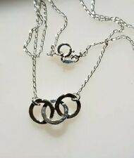 Sterling Silver 3 links necklace handmade.