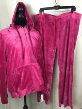 Women's Activewear Pant set Size 3X Hot Pink Velour Like Material E13