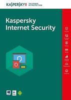 ANTIVIRUS KASPERSKY INTERNET SECURITY 2019  1PC LICENZA 1 ANNO /  100% ORIGINALE