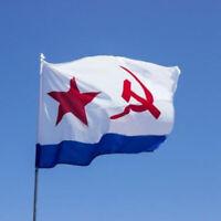 USSR Navy Flag 5 x 3' - Soviet Union Communist Socialist Russian Hammer Sickle