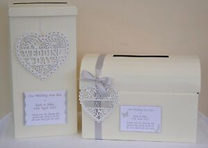 Elegant personalised sparkly wedding card post box & guest book