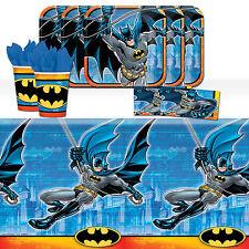 DC Batman Superhero Childrens Birthday Party Tableware Pack Kit For 8