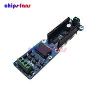 Dual Channel L298P 2A DC Stepper Motor Driver Shield Module For Arduino Nano 3.0