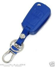 153- CZR Cruze Chevrolet BLUE Leather Remote Key Chain Key Cover Case Holder
