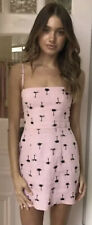 Bec And Bridge Coconut Grove Pink Linen Dress Size 8