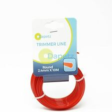 10m of 2.4mm Round Strimmer Cord Line Wire String Nylon Petrol Trimmer Durable